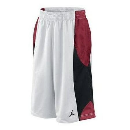 Nike - Nike Air Jordan Durasheen White Red Black Men s Basketball Shorts  Size M - Walmart.com 5787767fa