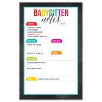 Colorful Tabs Babysitter Notepad