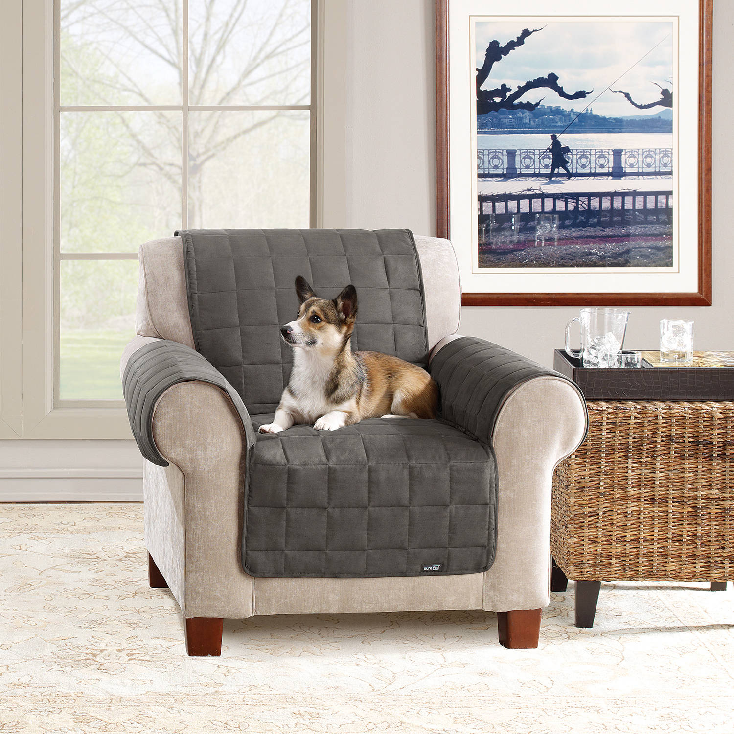 Sure Fit Ultimate Waterproof Quilted Pet Chair Cover