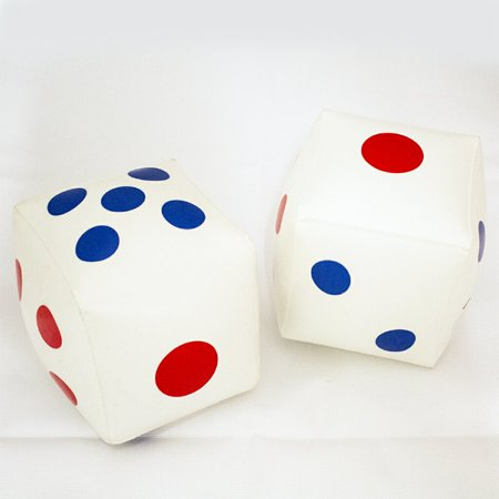 Inflatable Dice Pack of 2 6inch- Glow In The Dark Great for Education, Game, Party Supplies by Jet Creations GTO-DICE6 (Glow In The Dark Party Games)