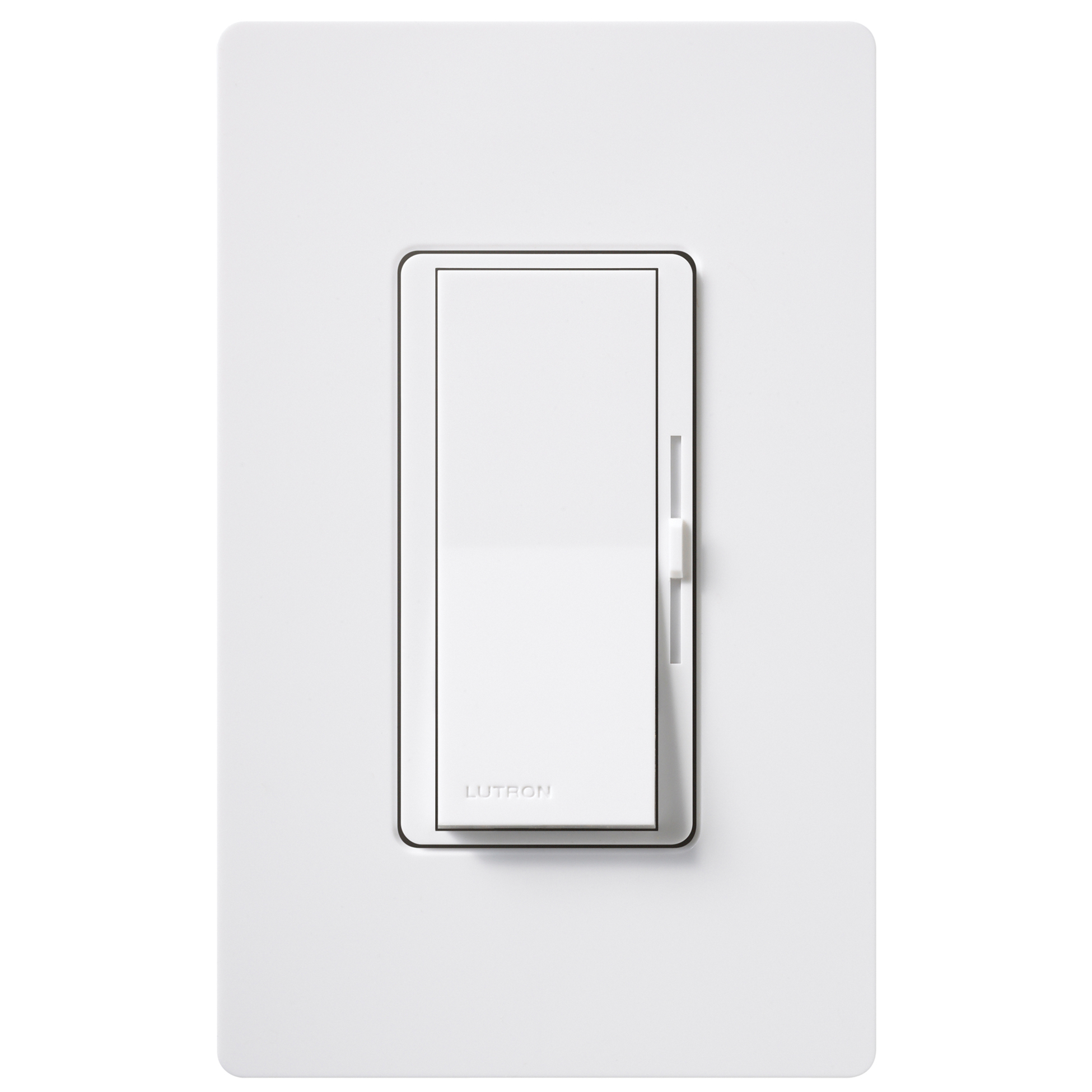 Lutron DVWCL-153PH-WH White Single Pole Or 3 Way CFL LED Dimmer With Wall Plate by LUTRON ELECTRONICS CO