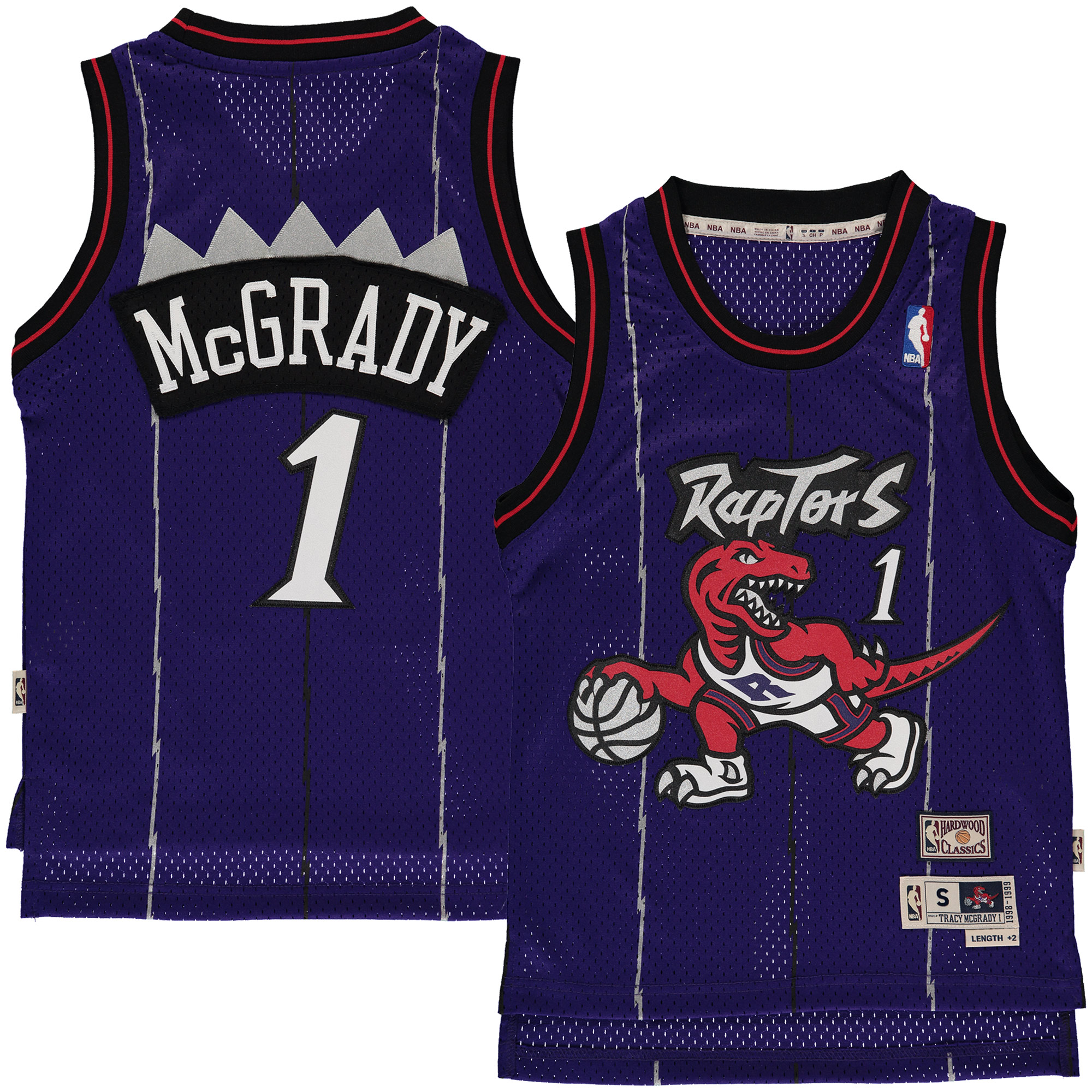 e28e753da2f Tracy McGrady Toronto Raptors Mitchell   Ness Youth Hardwood ...