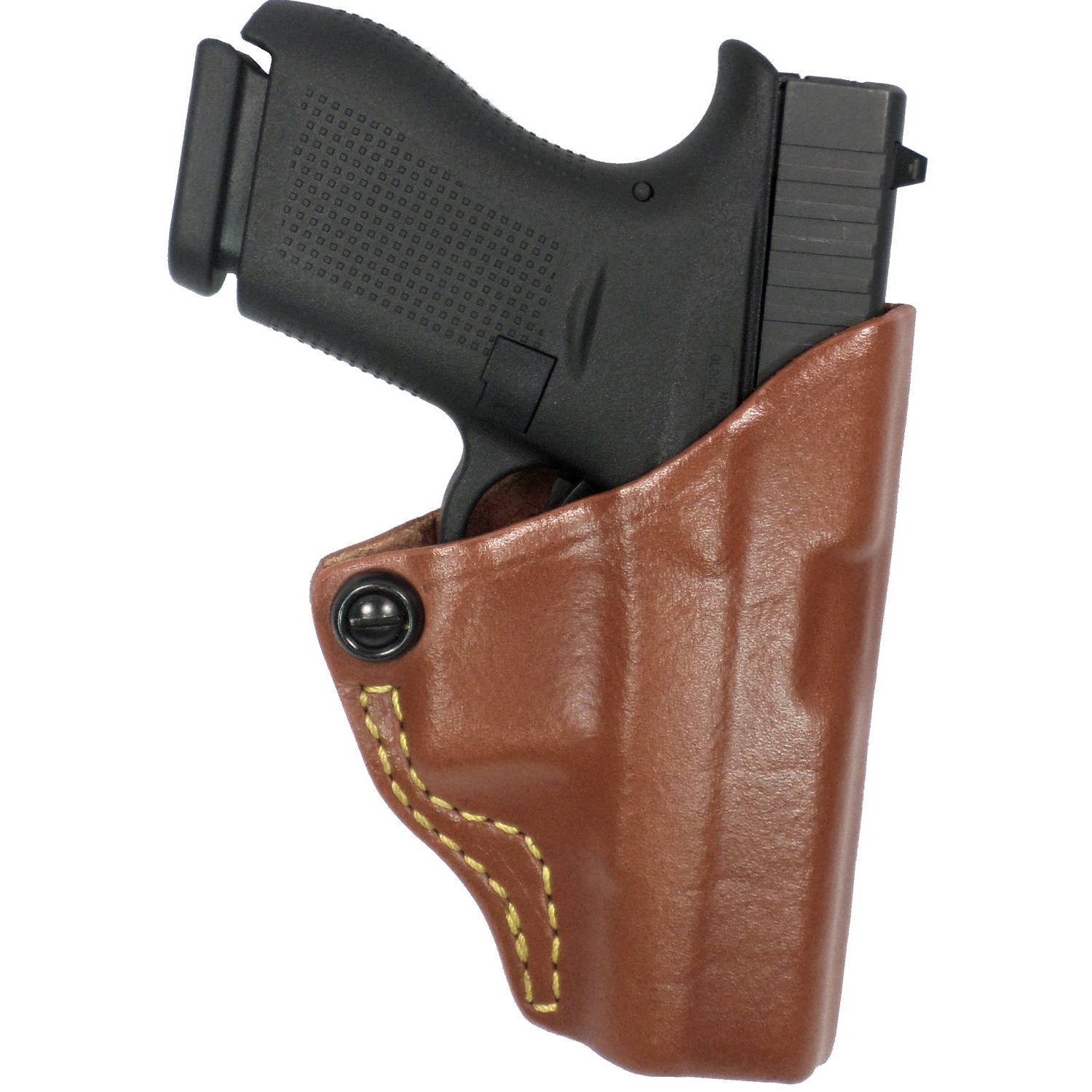 G&G 897-3LH Chestnut Brown Tension Belt Slide Holster
