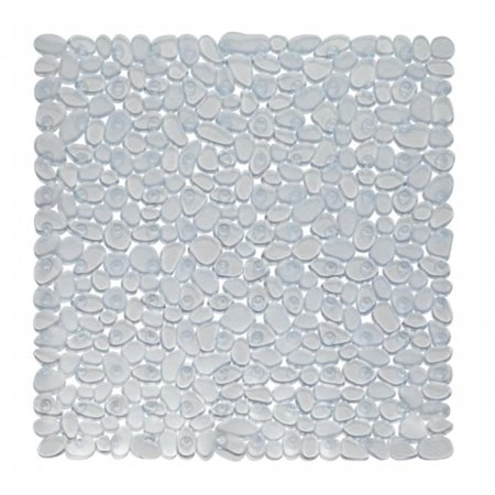 TM-ROC-ST-26 21 x 21 in. Stall Pebbles Vinyl Bath Mat, Clear - image 1 of 1