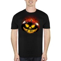504223ec8b5bd Product Image Glowing Pumpkin Smile Men s Halloween Humor Graphic T-Shirt