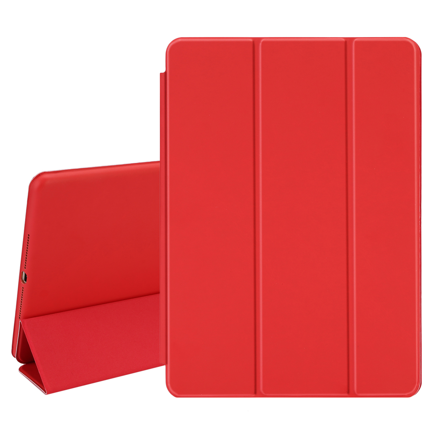 TKOOFN Ultra Thin One Single Piece Design PU Leather Smart Case [Wake/Sleep Function] for 2014 New Apple iPad Air 2