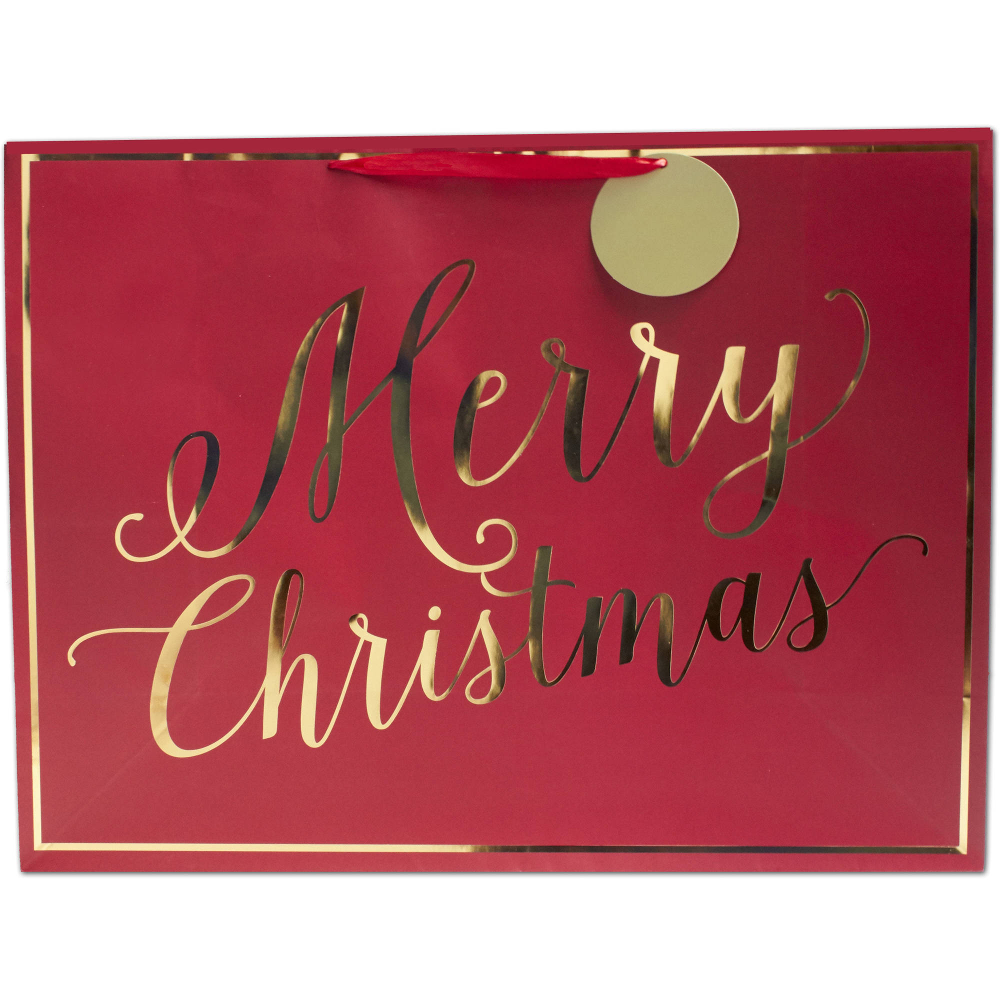 Holiday Time Merry Christmas Super Jumbo Gift Bag
