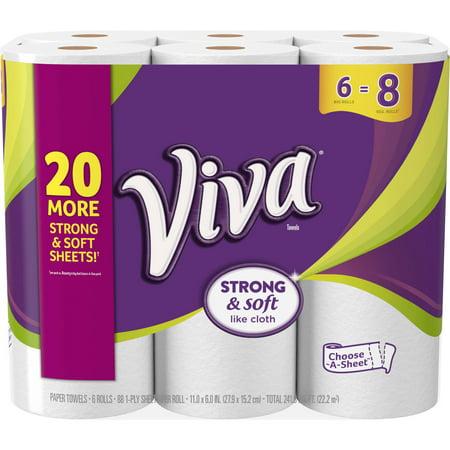 Viva Paper Towels  Choose A Sheet  6 Big Rolls