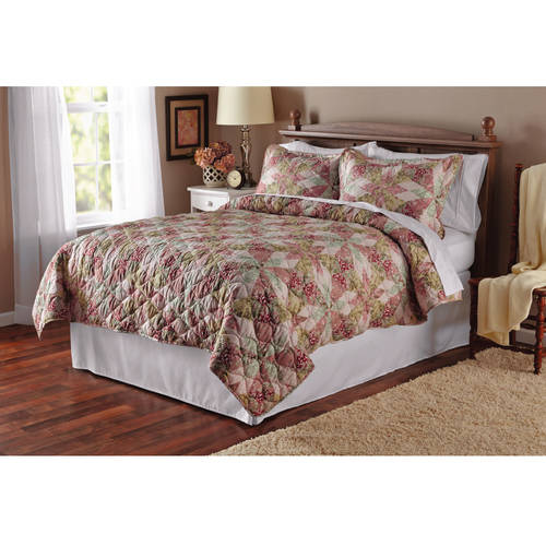 Mainstays Luxe Antique Garden Full/Queen Quilt