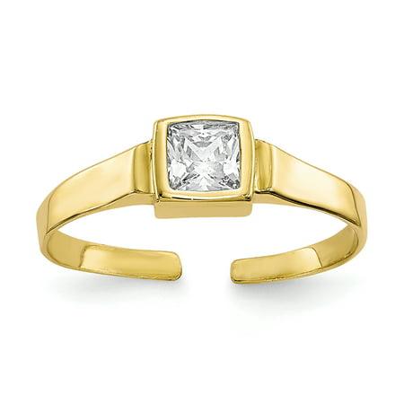 10K Yellow Gold Women's Toe Ring