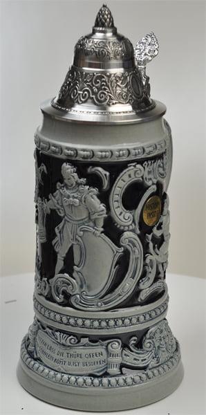 Beer Stein by King Thewalt 1894 Fridolin The Drunken Son Relief Beer Stein (Beer Mug) .75l... by King Werke Germany