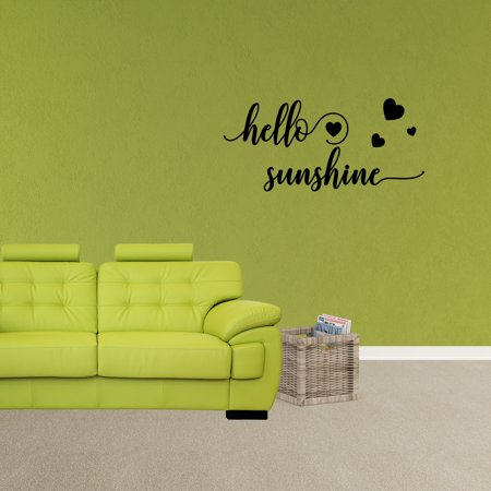Wall Decal Quote Hello Sunshine Vinyl Sticker Lettering Design Removable Nursery Decor XJ318 - Hello Kitty Wall Decor