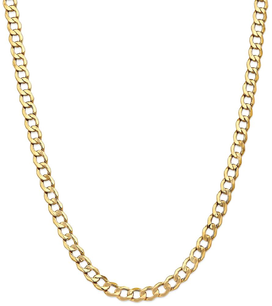 ICE CARATS 14kt Yellow Gold 7mm Curb Cuban Link Chain Necklace 18 Inch Pendant Charm Fine Jewelry Ideal Gifts For Women... by IceCarats Designer Jewelry Gift USA