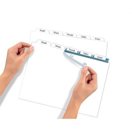 Averyr Index Makerr Clear Label Dividers 11446 White 5 Tabs