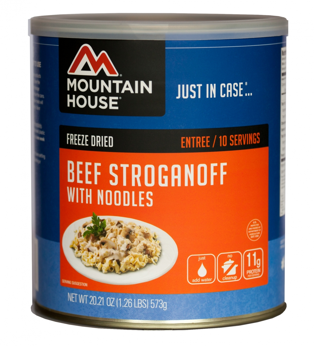 Mountain House (6 Pack) Beef Stroganoff with Noodles Main Entree #10 Can by Mountain House