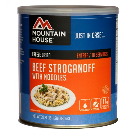 Mountain House - (6 Pack) Beef Stroganoff with Noodles Main Entree - #10 Can - Entrees D'halloween
