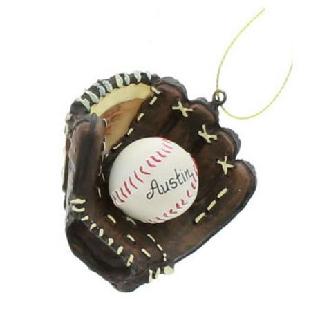 Resin Glove And Baseball Ornament Mini Baseball Ornament