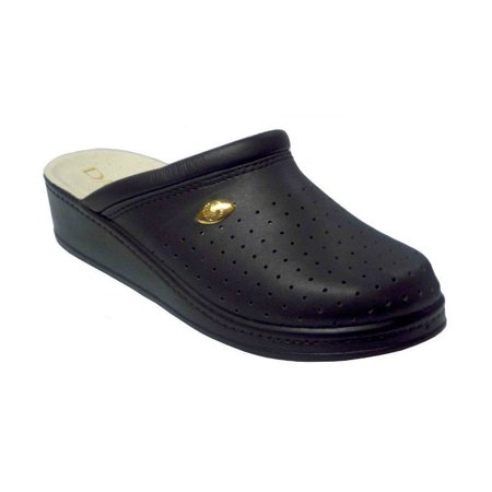 Damianis by Italian Shoemakers 300 Womens Leather Perforated Comfort Clogs