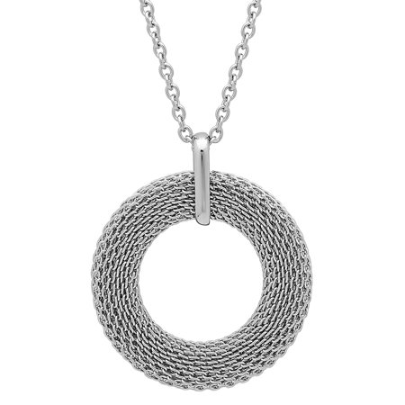 Women's Stainless Steel Mesh Pendant with