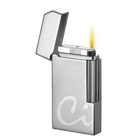Caseti Windsor Chrome Diamond Cut Flint Traditional Flame Lighter