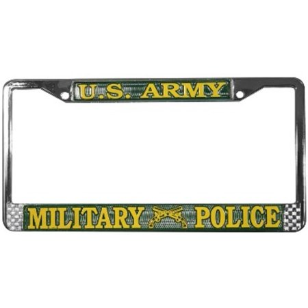 U.S. Army Military Police License Plate Frame   Free Screw Caps with this Frame