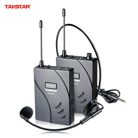 TAKSTAR UHF-938 Upgraded Version Wireless Acoustic Tour Guide Transmission System (Transmitter + Receiver) 50m Effective Range 432.5-433.5/ 433-434MHZ with Microphone