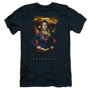 Supergirl Standing Symbol Mens Slim Fit Shirt