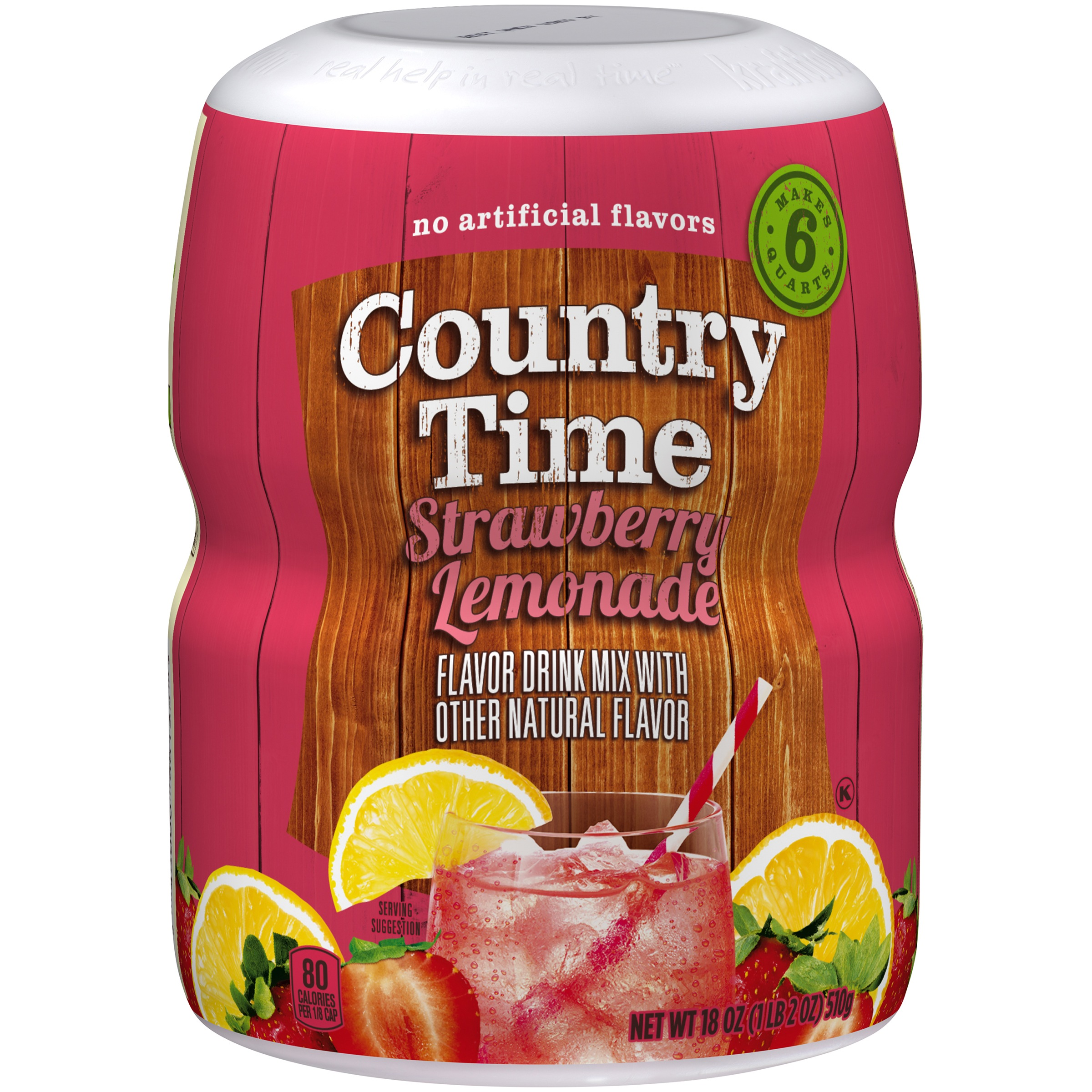Country Time Strawberry Lemonade Drink Mix 18 oz. Jar