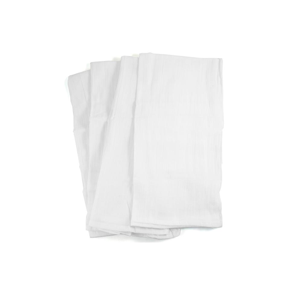 4 Flour Sack Towels Dish Drying Straining Cotton Towel Cleaning Cloth Kitchen