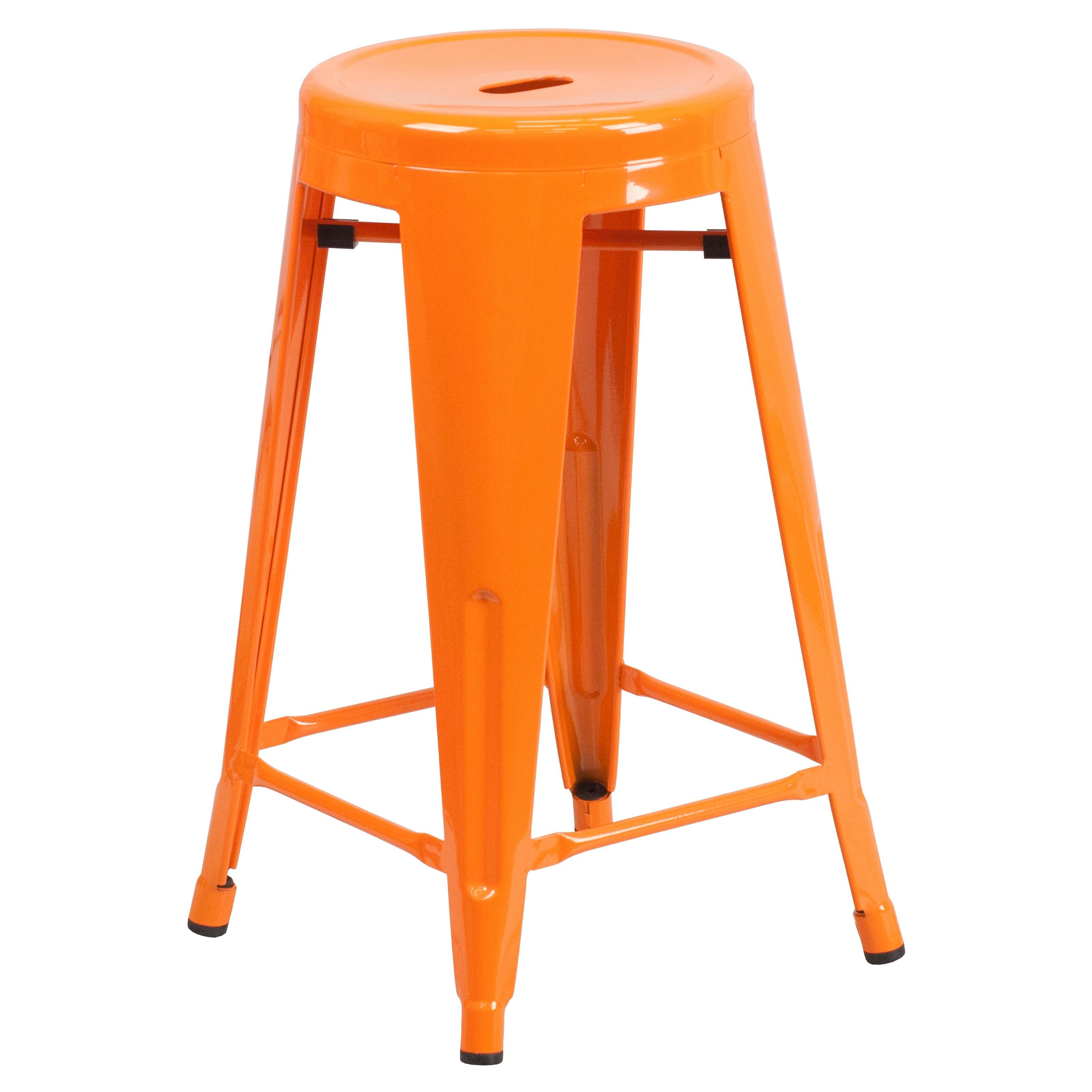 Miraculous Flash Furniture 24 High Backless Orange Metal Indoor Unemploymentrelief Wooden Chair Designs For Living Room Unemploymentrelieforg