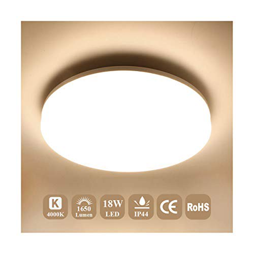 Airand 4000k Ceiling Lights Led, Bright Bathroom Ceiling Lights