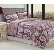 Superior Waterloo Reversible 300 Thread Count Cotton Reactive Print Duvet Cover Set