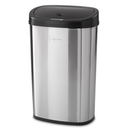 Mainstays Motion Sensor Trash Can, 13.2 Gallon, Stainless Steel
