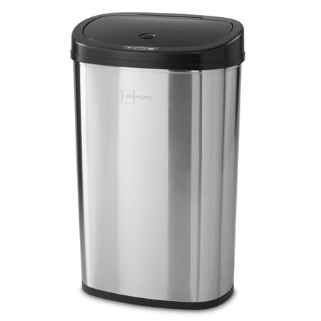 Mainstays Motion Sensor Trash Can, 13.2 Gallon, Stainless