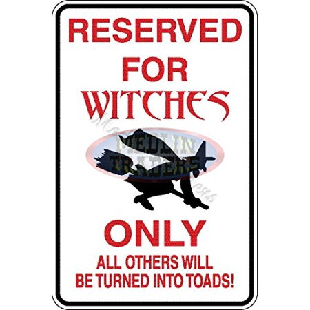Funny Sign Witch Aluminum Parking Only HALLOWEEN SIGN S-8074 - Halloween Signs Funny