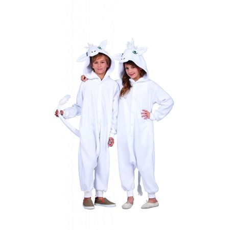 Una The White Unicorn Child Funsie Costume (Unicorn Child Costume)