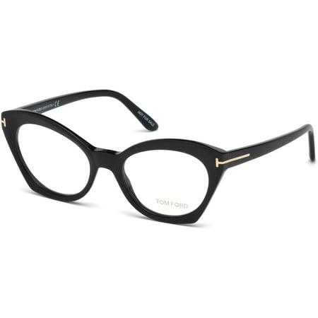 tom ford ft5456 eyeglass frames - matte black frame, matte black lenses, 52 mm lens ft545652002 (Tom Ford Brille Frames Für Frauen)