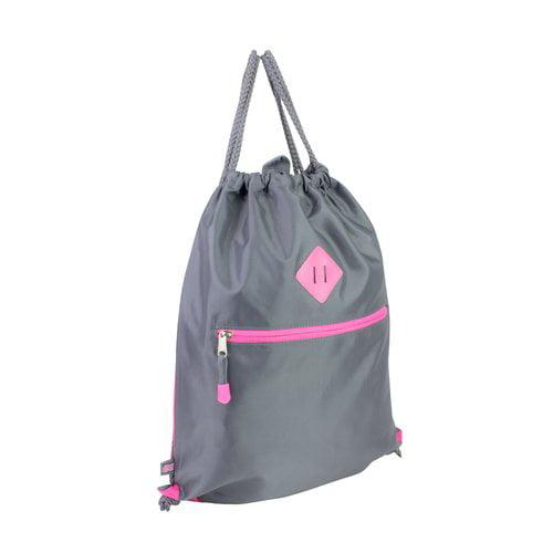 Eastsport Drawstring Sling, Gray/Pink