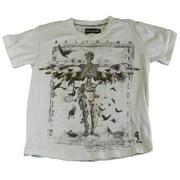 Religion Toddler Boy's Printed Short Sleeve Shirt 4-5 Years White
