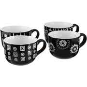 Gibson Home Abstrax 20 oz Latte Mugs, Set of 4