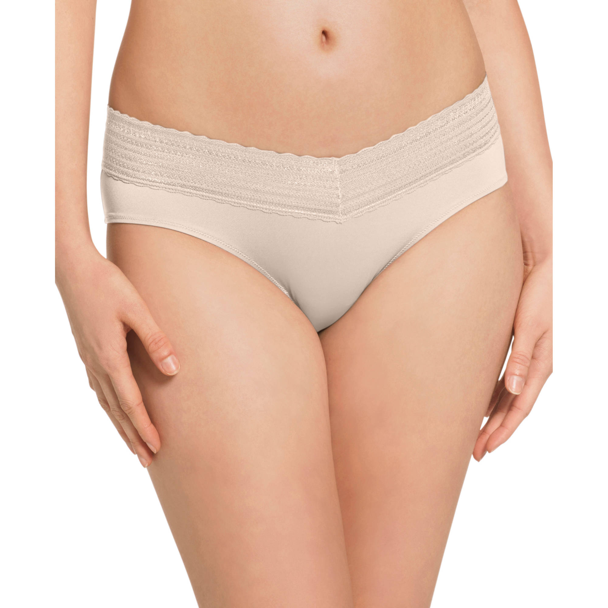 Blissful Benefits by Warner's No Muffin Top Hipster with Lace Panties