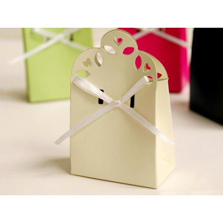 443c5c96cfab BalsaCircle 100 Cute Wedding Favor Boxes with Ribbons - Wedding Party Candy  Gifts Decorations Supplies - Walmart.com