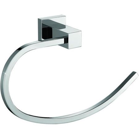 (AGM Home Store Cubo Brass Open Arm Towel Ring)