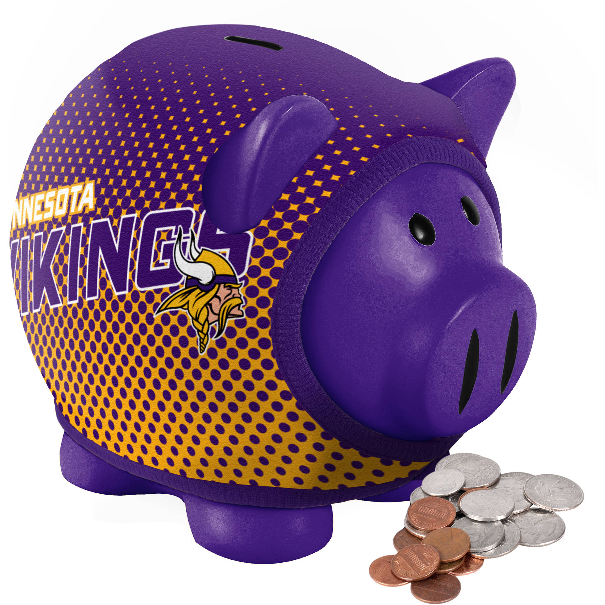 Forever Collectibles NFL Sweater Piggy Bank, Minnesota Vikings