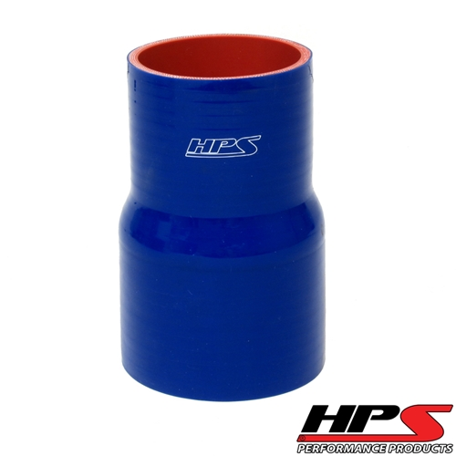 """HPS High Temp 2"""" > 2.25"""" ID x 4"""" Long 4-ply Reinforced Silicone Reducer Coupler Hose Black (51mm > 57mm ID x 102mm Length)"""