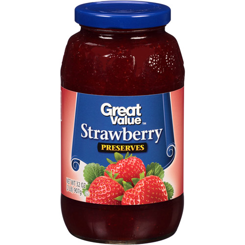 Great Value: Strawberry Preserves, 32 Oz