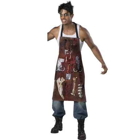 Chop Shop Butcher Mens Adult Meat Cutter Halloween Costume Apron-Os