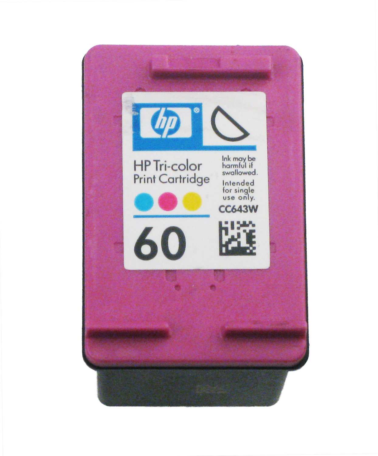 Original HP 60 Color Ink Cartridge for HP Envy 120 114 Deskjet F4480