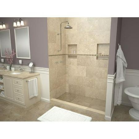 Tile Redi Wf4272l Pvc Wonderfall 42 X 72 Alcove Shower Pan With