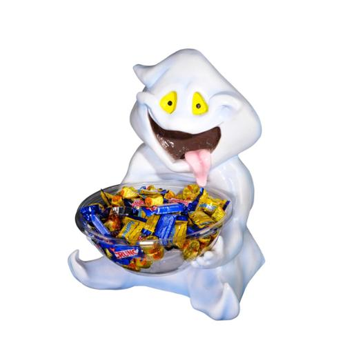 Trick Or Treat Ghost Candy Bowl Halloween Holder Prop